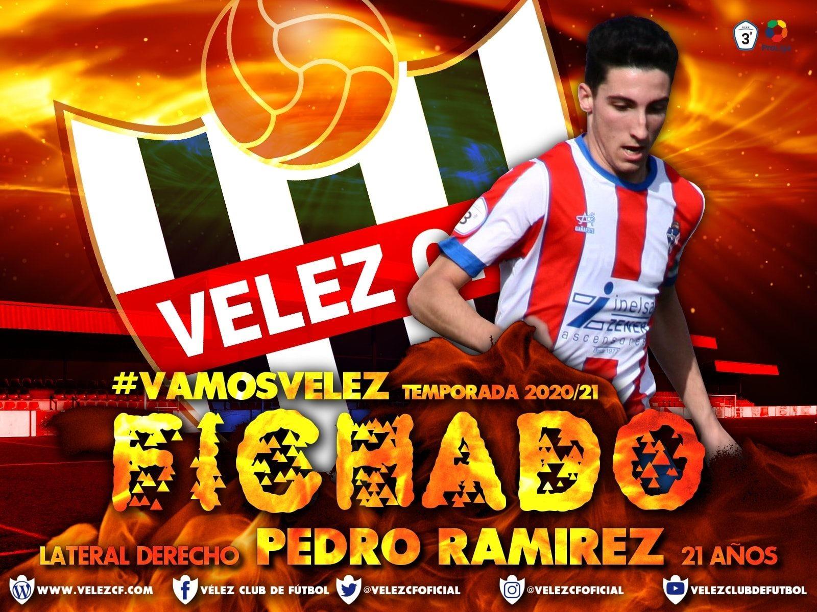 Velez C.F. Fichado Lateral Derecho Pedro Ramirez