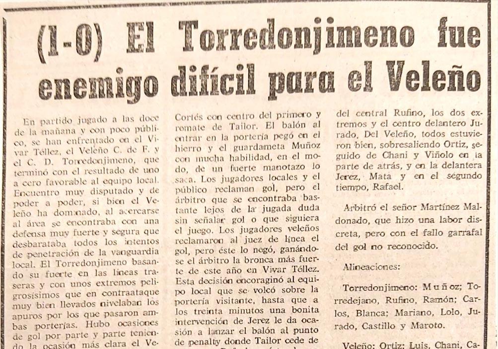 Recorte de prensa Velez-CF-Torredonimeno-70-71