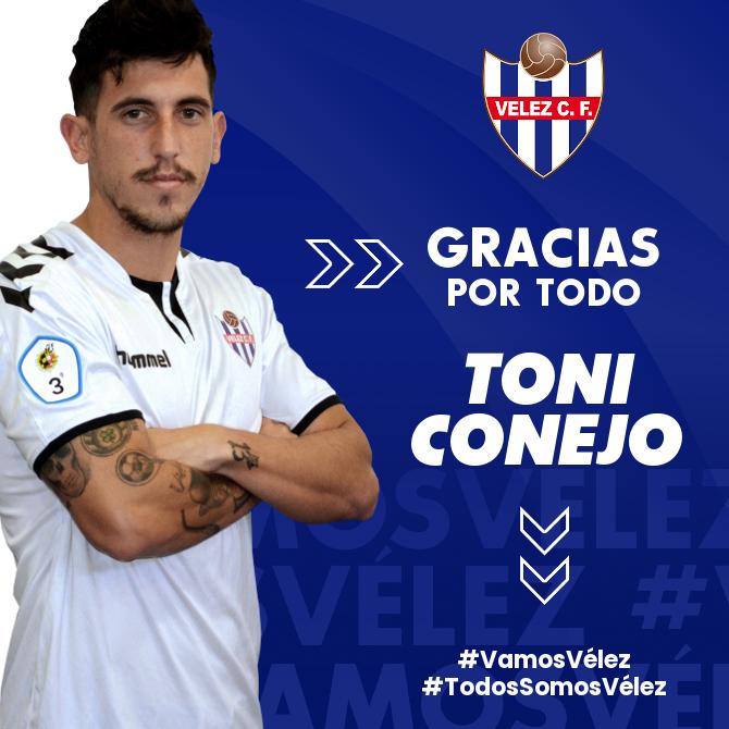 Toni Conejo deja de pertenecer al Vélez CF